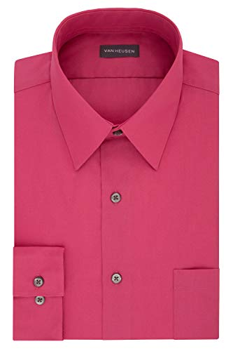 Van Heusen Men's Dress Shirt Regular Fit Poplin Solid, Desert Rose, 18' Neck 34'-35' Sleeve (XX-Large)