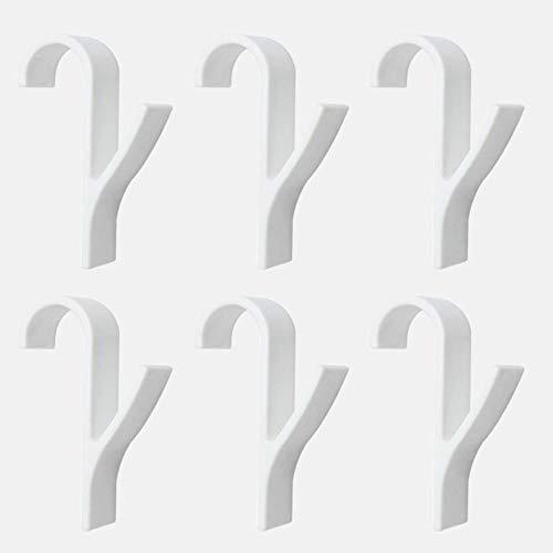 Rang slurry hangers verwarming handdoeken binaire slechte ondersteuning haak hanger wit Folding 6 stuks,6 stuks