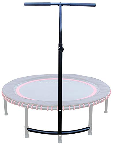 Leaps & ReBounds: Adjustable Stabilizer Bar - Fits All L&R Fitness Trampolines - Grippable & Cushy Foam Handles - Easy Assembly, Slips Over Existing Legs - Trampoline Sold Separately