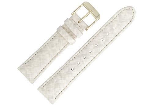 Tommy Hilfiger Uhrenarmband 18mm Leder Beige Muster - 679302074
