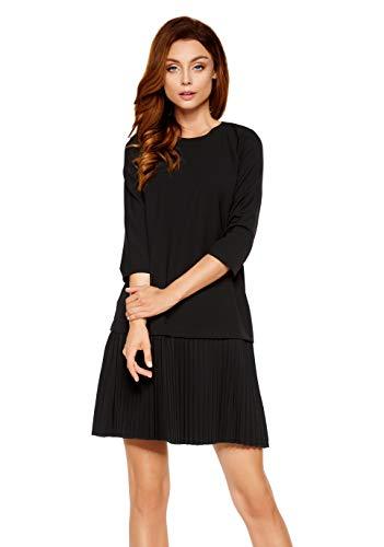 Lemoniade Damen Kleid/Set aus Rock und Top BZW. Bluse (Made in EU) in auffälligem Design, Modell 4 Schwarz 1-teilig, L (40)