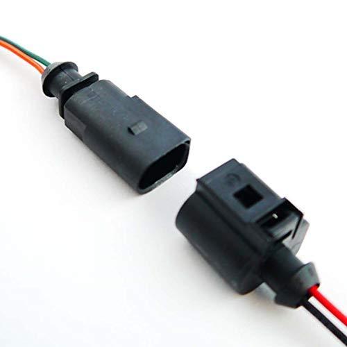 Autodily - Beide Seiten 2 Pin Anschlüsse vor Verdrahtet Stecker Buchse 1J0973702 1J0973802 Reparatur