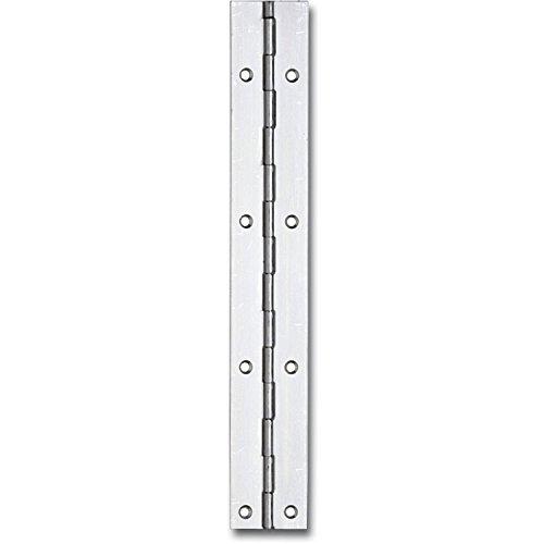 Gedotec Tür-Scharnier gerollt Klavierband vernickelt Türband zum Schrauben | 20 x 600 mm | Stahl | 1 Stück