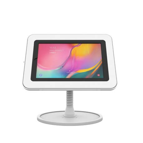 The Joy Factory KAS305W Flexible Arm Counter Stand Compatible with Galaxy Tab A 10.1 (2019) White
