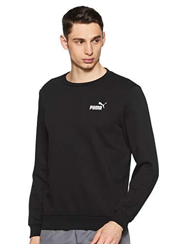 PUMA Herren ESS Logo Crew Sweat FL Pullover, Black, M