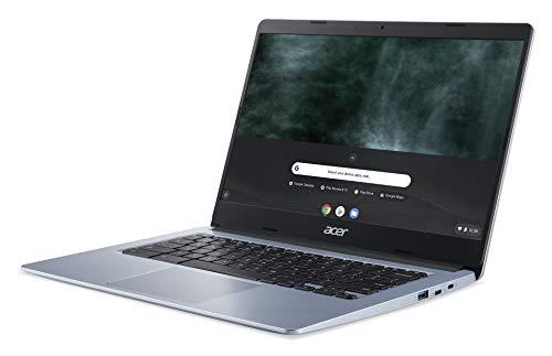 """Acer Chromebook 314 CB314-1H-C2W1 Notebook, Pc Portatile con Processore Intel Celeron N4000, Ram 4GB DDR4, eMMC 64 GB, Display 14"""" Full HD LED LCD, Scheda Grafica Intel, Chrome OS, Silver, [CB]"""