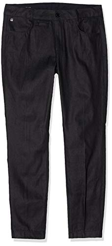 G-STAR RAW D-STAQ Mid Waist Skinny Ankle Chino Pantalones, Negro (Raw Denim 9286-001), 26W / 32L para Mujer