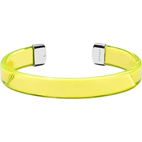 Skagen Damen-Armband Kunststoff/Edelstahl One Size Gelb 32012397