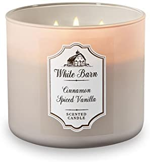 Bath and Body Works 3 Wick Scented Candle Cinnamon Spiced Vanilla 14.5 Ounce