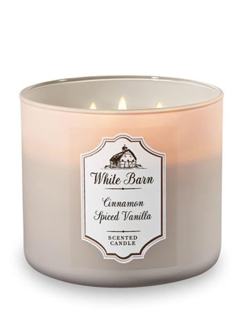 Bath and Body Works 3?Wick Scented CandleシナモンSpicedバニラ14.5オンス