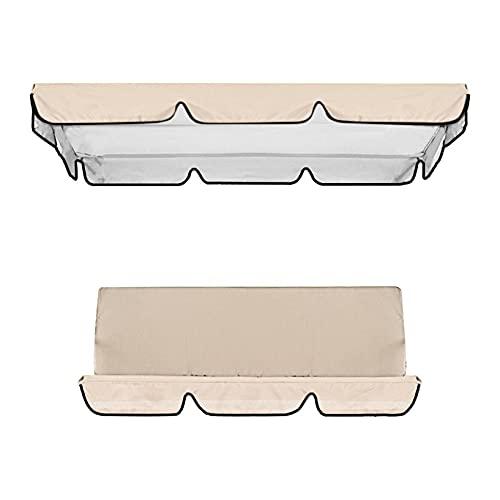 Cubierta impermeable para columpio, toldo y silla de jardín, protección solar (beige)