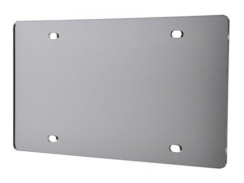 Marketing Holders Blank License Plate Laser Cut Acrylic Silver Mirror Qty 1