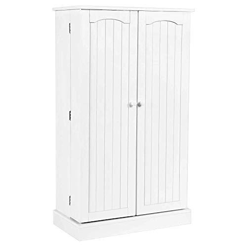 Yusong - Armario de cocina con 5 puertas y 5 estantes para ahorrar espacio, color blanco