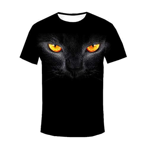 Sylar Camisetas de Manga Cortas Cuello Redondo para Hombre Nuevo 2019, Verano Suave y Transpirable Camisa Camiseta Moda Pantera Negra 3D Impreso tee Camisa Slim fit Tops