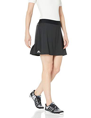adidas Damen Club Rock, 40,6 cm, Damen, Kleid, Club Long Skirt, Schwarz/mattsilber/schwarz, Small