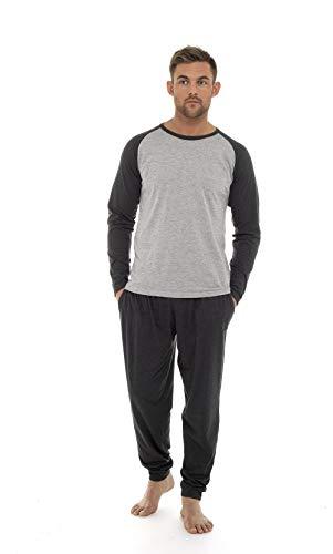 Pijama Hombre Sudadera Gimnasio Mangas Largas (Gris Claro Oscuro, XXL)