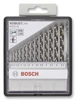 Bosch 2 607 010 538 - Set de 13 brocas para metal Robust Line HSS-G, 135° - 1,5; 2; 2,5; 3; 3,2; 3,5; 4; 4,5; 4,8; 5; 5,5; 6; 6,5 mm, 135° (pack de 13)