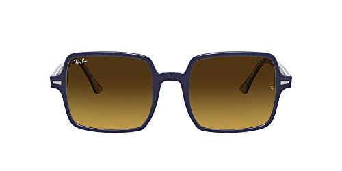 Ray-Ban Rb1973 Square II Gafas, Azul sobre rayas Naranja/Azul, 53 Unisex Adulto