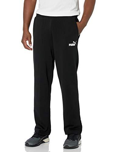 PUMA Men's Essentials Fleece Sweatpants, Black, XXL