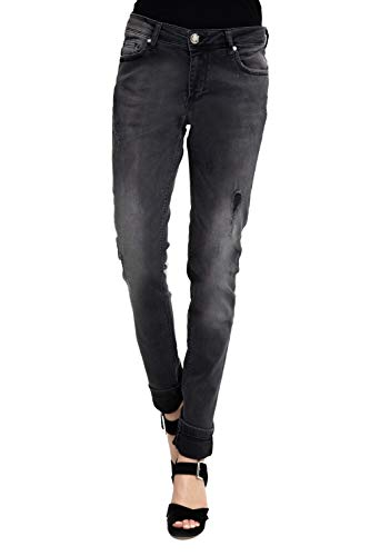 Zhrill Damen Jeans Hose Sharona Women's Denim, W9160 - Black, 29