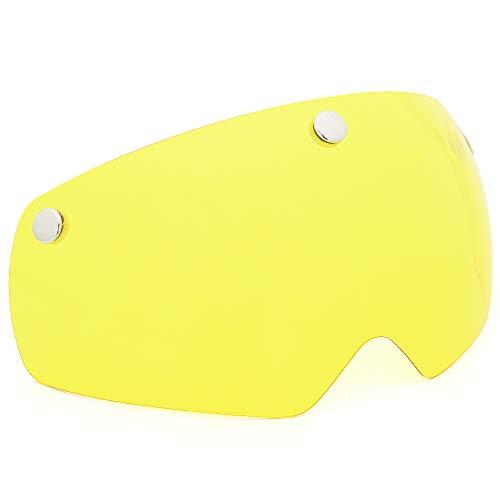 VICTGOAL Magnetische Fahrradhelmbrille Winddicht staubdicht Visier (Gelb)
