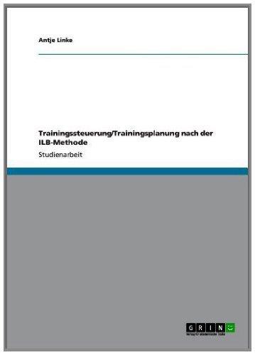 Trainingssteuerung/Trainingsplanung nach der ILB-Methode