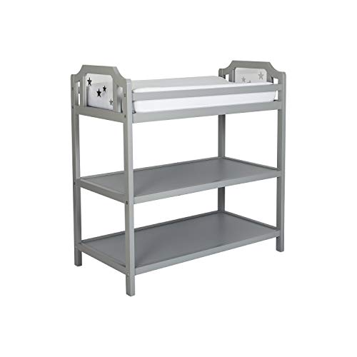 Suite Bebe Celeste Changing Table Safety Rail Included, Light Grey