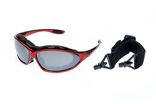 Ravs Sportbrille mit Band und Bügel Skibrille Kitebrille Bergbrille