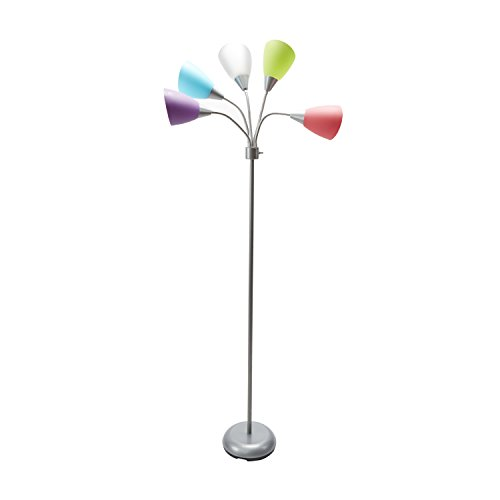 High Five Floor Lamp with Five Color Shades