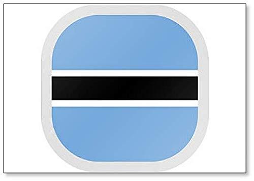 Kühlschrankmagnet, quadratisch, mit Flagge Botswana