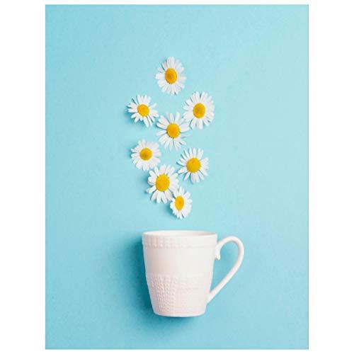 5d Diy Diamond Art Kits para adultos Copa blanca Flores de manzanilla...