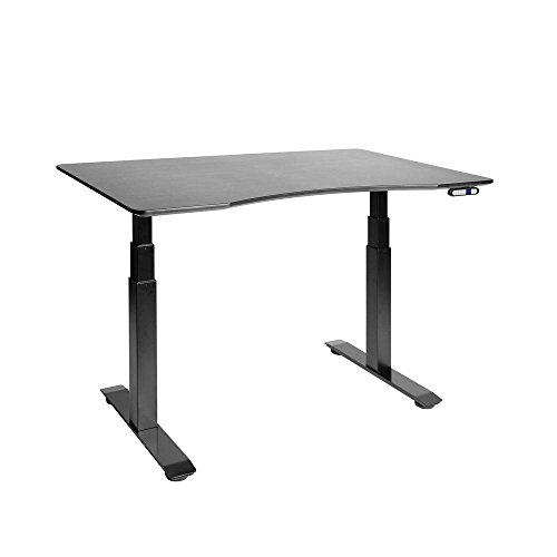 Seville Classics AIRLIFT Pro S3 54' Solid-Top Commercial-Grade Electric Adjustable Standing Desk (51.4' Max Height) Table - Gray/Ashwood