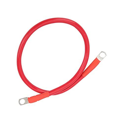 Cable de conexión a tierra de cobre, correa de tierra de 25 mm² 23,6 pulgadas con estrictos estándares de calidad para conectar dos baterías para el portafusibles del inversor de batería(Un rojo))