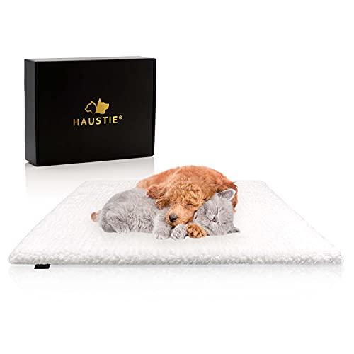 HAUSTIE® Selbstwärmende Decke für Hunde & Katzen - Extra Dick & Weich – rutschfest - Leicht Waschbar (61x49 cm)