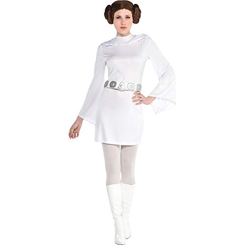 Suit Yourself Star Wars Princess Leia Dress for Women, Standard Size (6-8), Includes Long-Sleeve Mini Dress and Belt