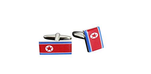 Flaggenfritze® Manschettenknöpfe Fahne / Flagge Nordkorea