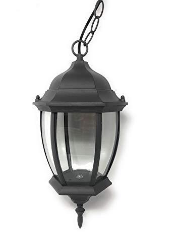 Vetrineinrete Lanterna sospesa a tenuta stagna da soffitto attacco e27 lampada da giardino retrò applique antico per esterno a sospensione con catena es40 (Grigio) N8
