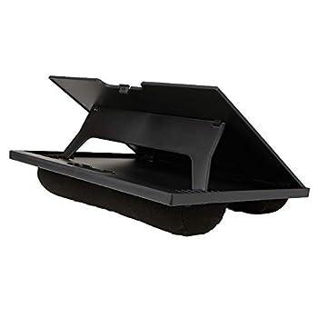 Mind Reader LTADJUST-BLK Adjustable Portable 8 Position Lap Top Desk with Built in Cushions Black