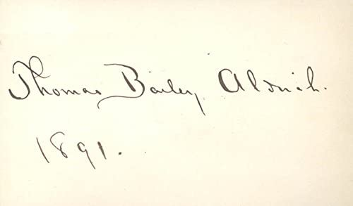 Thomas Bailey Ranking TOP12 Aldrich Ranking TOP4 - Signature 1891