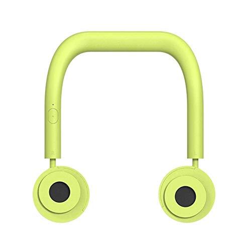 Adesign Ventilador de mano, ventilador personal sin mano, mini cuello de colgando doble ventilador, ventilador recargable USB portátil, 3 veces funcionando, plegable, para hacer ejercicio, montañas de