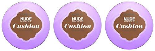 Natürliches Grundierung Nude Magique Cushion 11 Golden Amber mit LSF 29, 3er Pack (3 x 15 g)