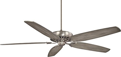 "Minka-Aire F539-BNK, Great Room Traditional 72"" Ceiling Fan, Burnished Nickel Finish with Seashore Grey Blades Ceiling Fans"