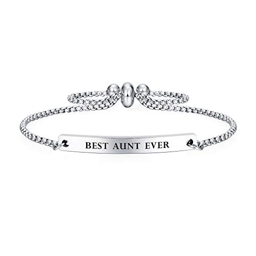 Best Aunt Ever Gift Bracelet for Women Mantra Jewelry (Best Aunt Ever)