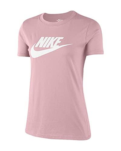 Nike Essntl Icon Futur T-Shirt, Pink Glaze/Black, M Donna