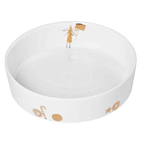Räder Design - Winterwunderland Schale Mehr Kekse, gold, Ø 16 x H 4 cm