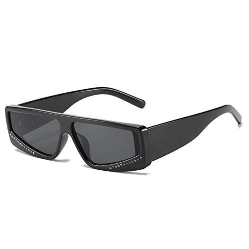 ZZOW Gafas De Sol De Diamantes De Lujo con Rectángulo Pequeño A La Moda para Mujer, Gafas De Color De Gelatina Vintage para Hombre, Gafas De Sol Cuadradas, Sombras Uv400