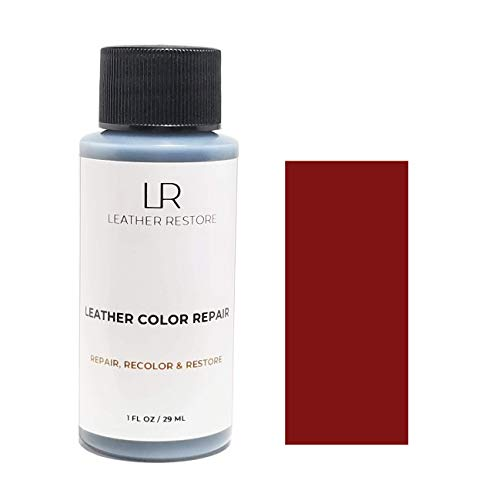 Leather Restore Leather Color Repair, Dark Red 1 OZ - Repair, Recolor and Restore Couch, Furniture, Auto Interior, Car Seats, Vinyl and Shoes