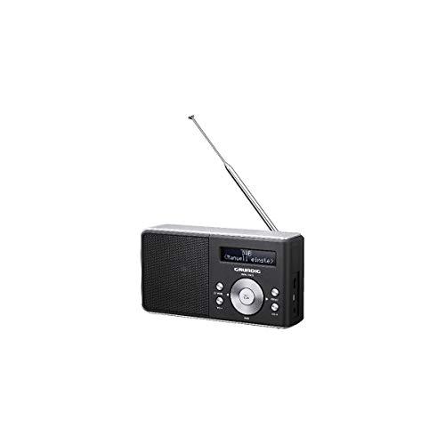 Grundig Music 50 DABB Tragbares Radio, Schwarz, Silber – tragbare Radios (tragbar, Dab+, UKW, 1 W, LCD, 3,5 mm, Micro-USB)
