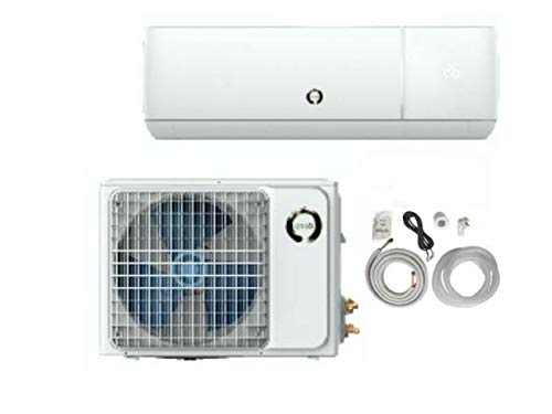 enso- Air Conditioner Ductless Wall Mount Mini Split System Air Conditioner & Heat Pump Full Set, 12000 BTU 110V