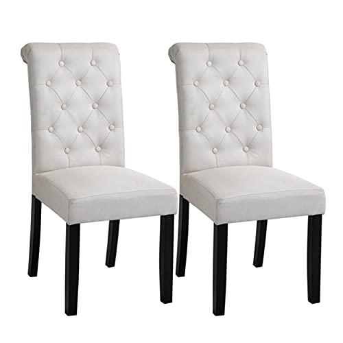 Silla de salón de dormitorio respaldo alto, patas de metal resistentes, cocina casera tapizada silla de comedor